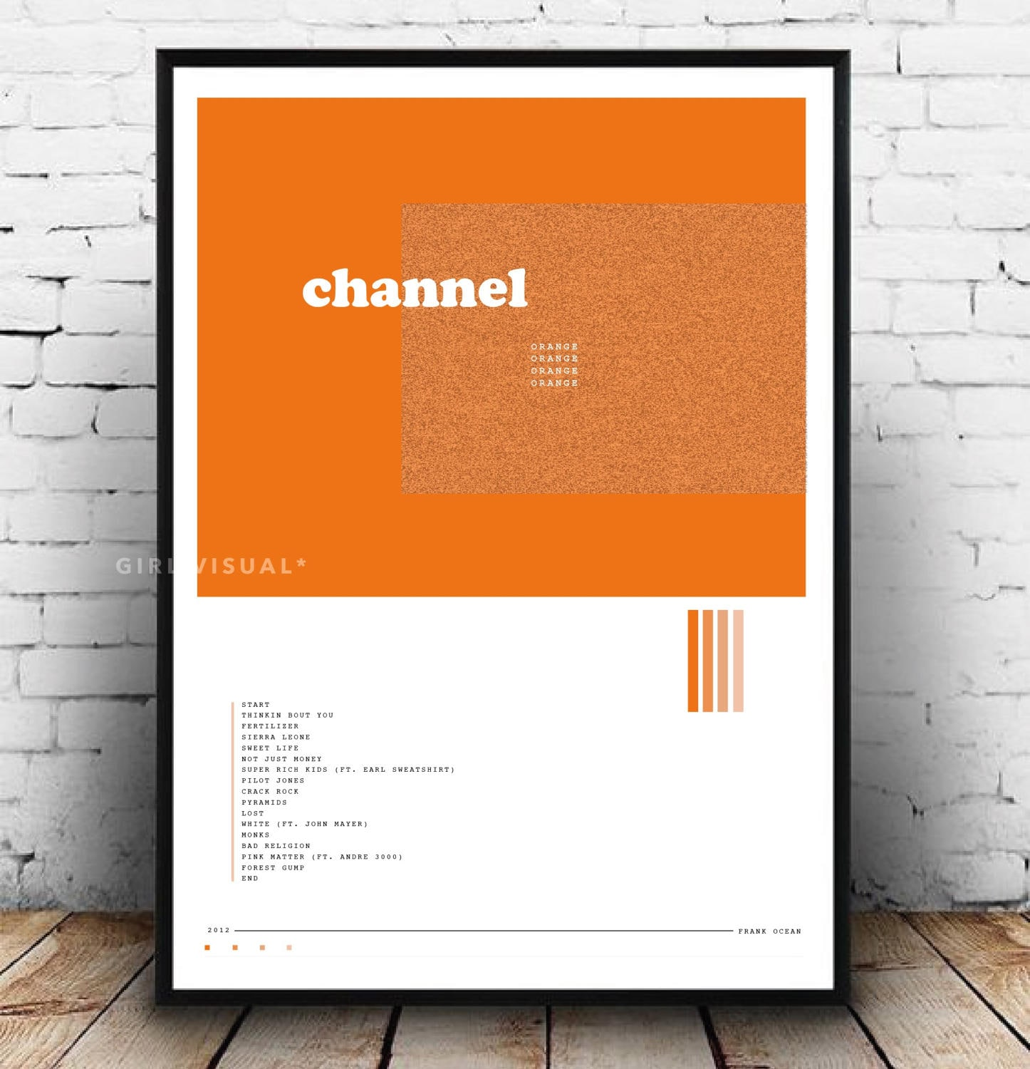 Frank Ocean Poster Frank Ocean Channel Orange Album Poster -6180