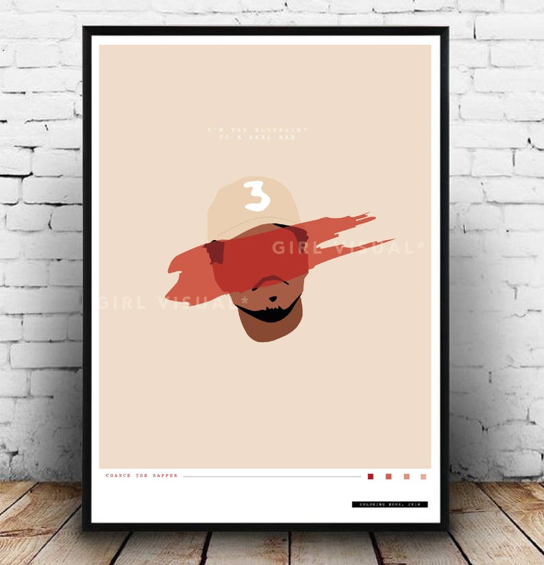 Chance The Rapper Coloring Book Print Chance The Rapper Poster Chance The Rapper Merch Chance The Rapper Wall Art Chance The Rapper Art