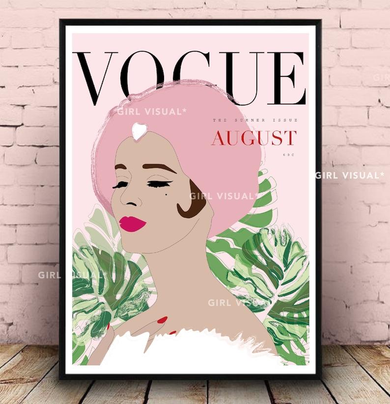 Stampa vintage vogue vogue poster vogue rosa stampa  2df5cc38a76d