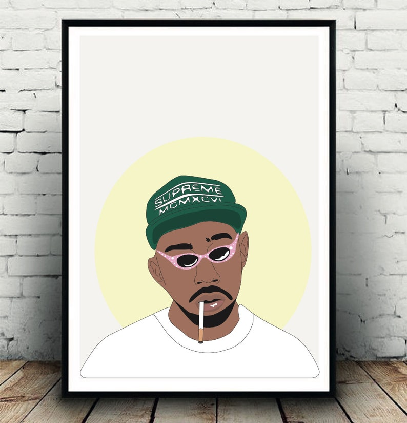 66e98ae69ab57e Tyler the creator in supreme poster Tyler the Creator wall