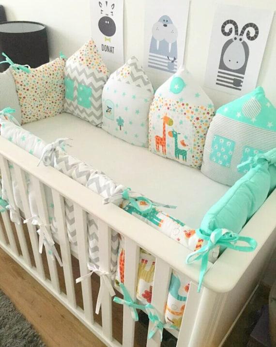Crib Bumper Baby Bedding Cot Bumper Baby Bumper Crib | Etsy
