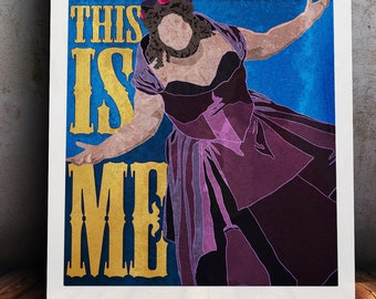 The Greatest Showman Bearded Lady 'This is Me' A4/A3 Print