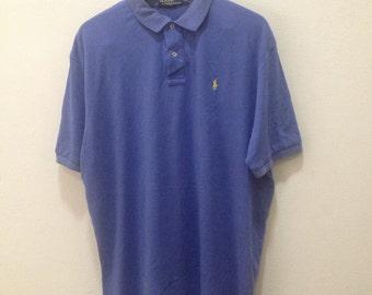 a3aa039474c52 Polo Ralph Lauren shirt 90s vintage short sleeve polo shirt XLarge Men