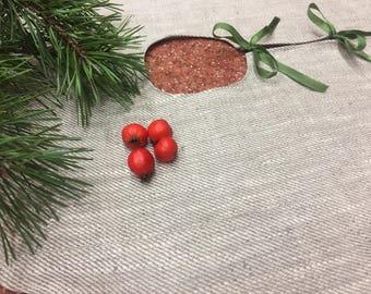 Linen Christmas tree skirt, Tree Skirt, burlap tree skirt, Christmas gift