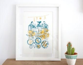 August / Screenprint / Silkscreen Print / Limited Edition Original Artwork