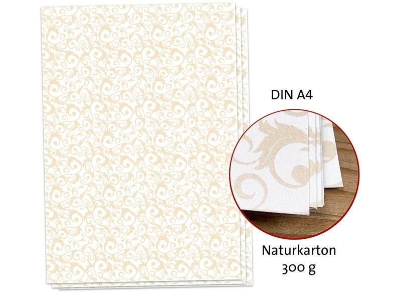 Craft Carton Motif Cardboard Ornament 50 Sheet Din A4 300 G Etsy