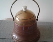 Vintage Brass and Copper Tabaco Jar