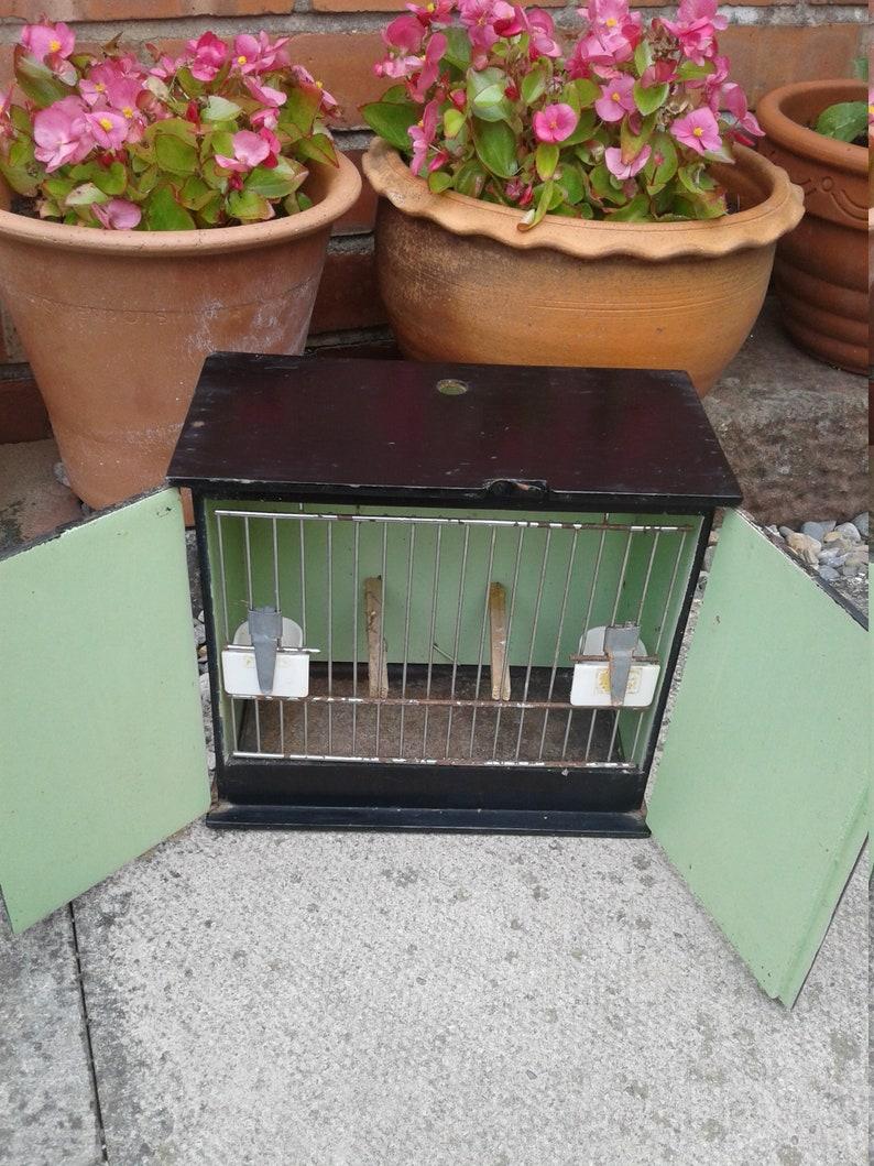 Vintage wooden bird cage /carrier