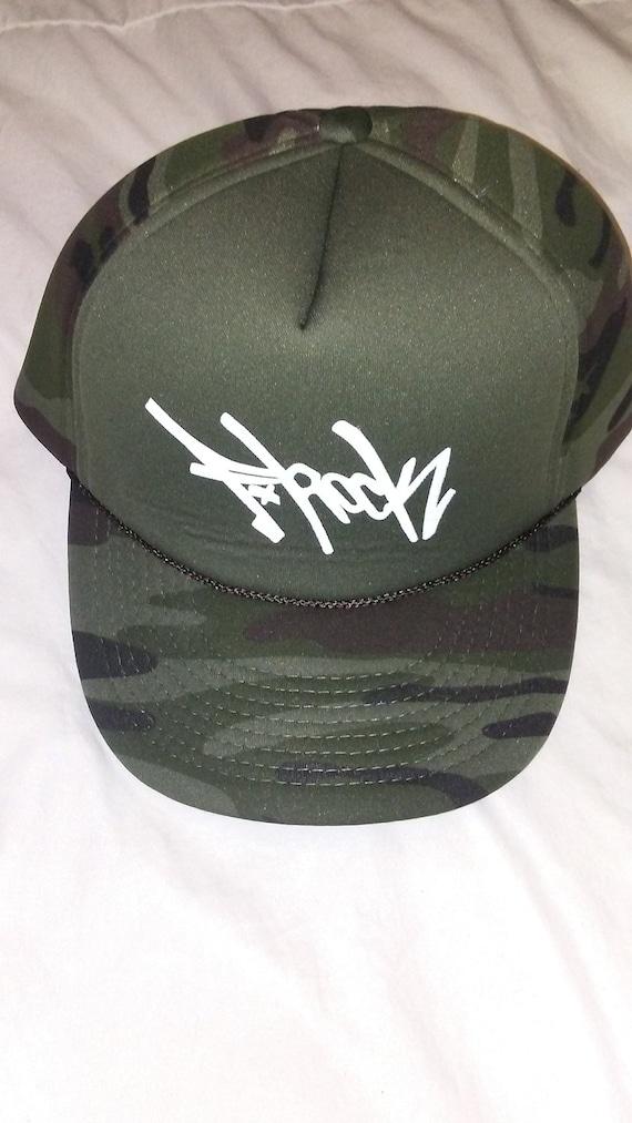 F-Rock Tag Foam Trucker Hat (Green Camo) c27ef439b714