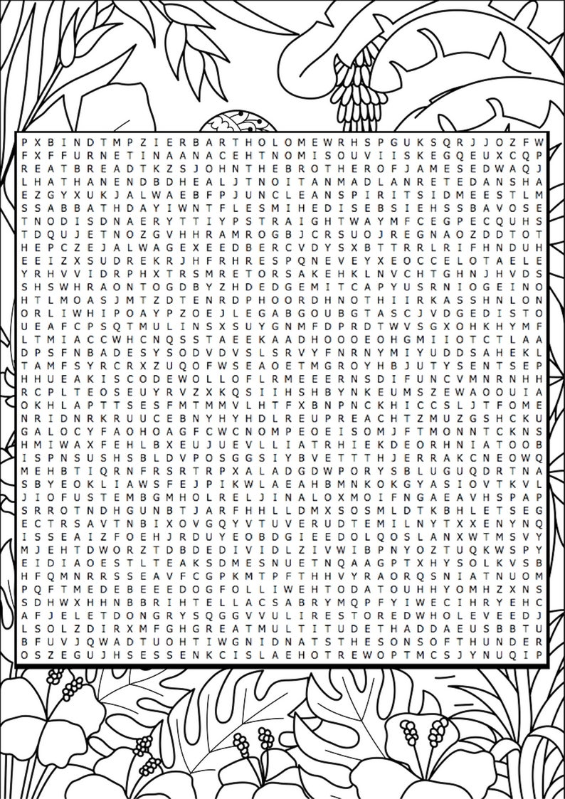 picture regarding Bible Word Search Printable called Bible Investigation Worksheet; Bible Term Look - Mark Chapter A few; Bible Investigate Lead Printables; Bible Journaling Coloring Sheet