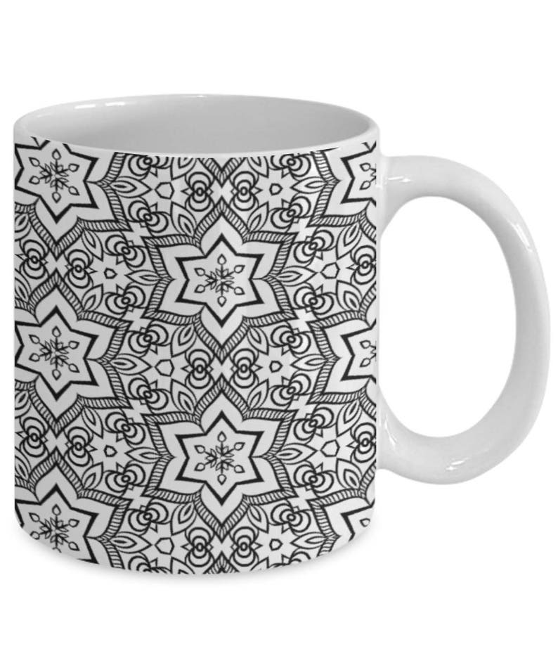 MugAdult Own Coloring Mandala 59 Coffee Zentangle Patterned Color Me Mug Your shdoCtQrxB