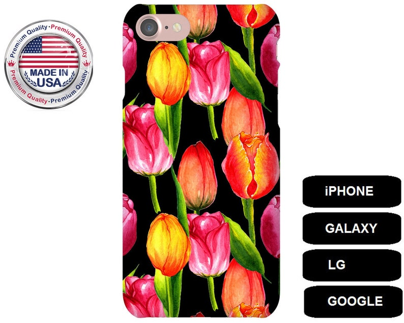 watch 86a56 436c5 Tulip Phone Case, Phone Case Tulips, iPhone 6 Plus Case, iPhone 5 Case,  iPhone SE Case, iPhone 7 Case, Galaxy S6 Case, Google Pixel XL Case