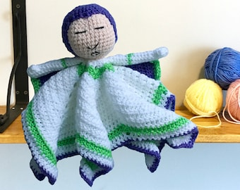 Space Ranger Crochet Lovey Doll Blankie