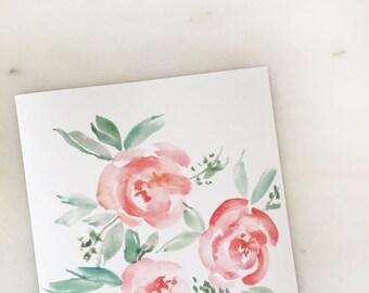 "Watercolor Floral 8"" x 10"" Print"