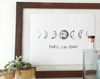 "Moon Phases 11"" x 14"" Print"