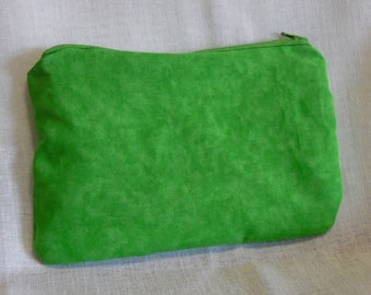 Lime Green Pencil Makeup Bag Pouch with Zipper