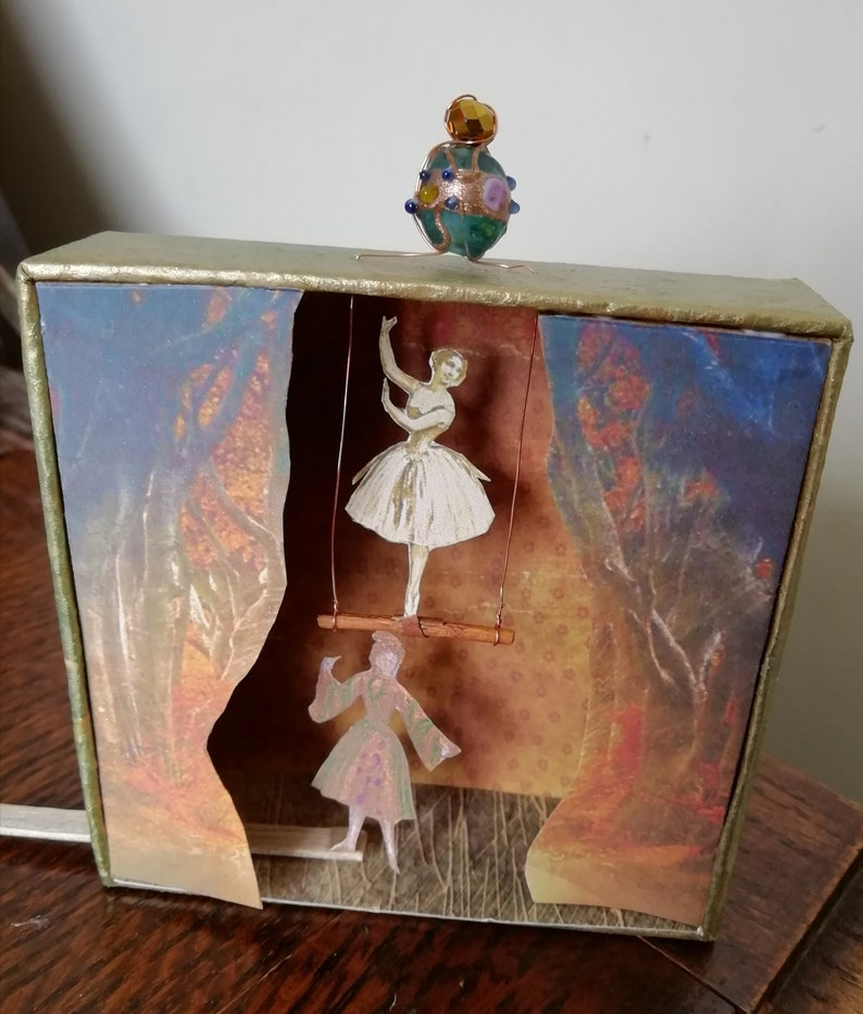 Theatre Model  Mini Stage  Dancing Diorama  OOAK Miniature image 7