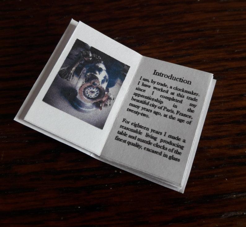 Steampunk Miniature printable book  The Alarming Clock: DIY image 0