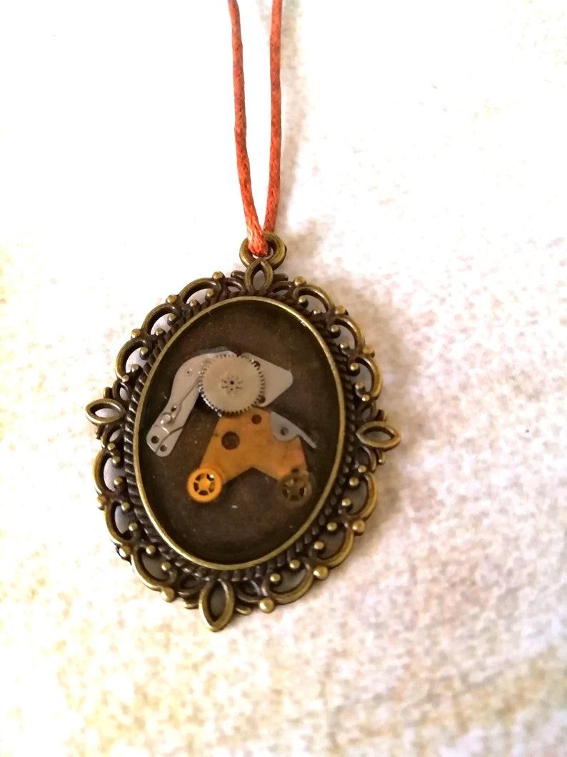 Steampunk Jewelry Delicate steampunk pendant OOAK Jumbo