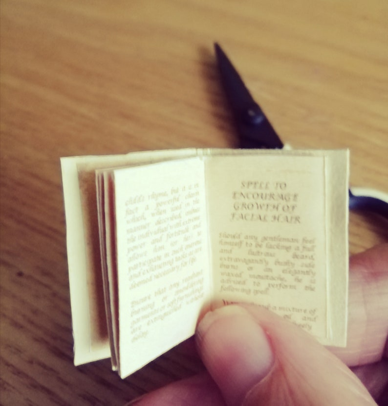 Mini Spell Book  Printable Miniature Book  Steampunk Spell image 0