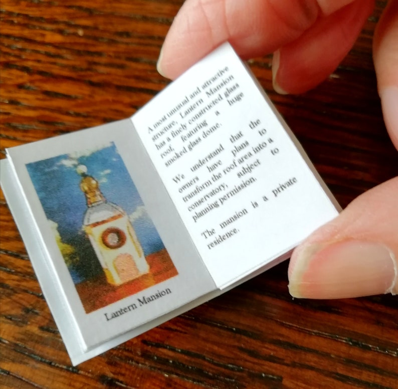 miniature guide book tiny PRINTABLE dollhouse book DIY image 0
