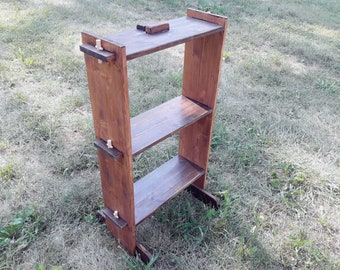 Small Medieval Shelf With Tree Shelves Exhibitor For Didactic Interlocking Furniture Middle Age Reenactment Camp Accesory