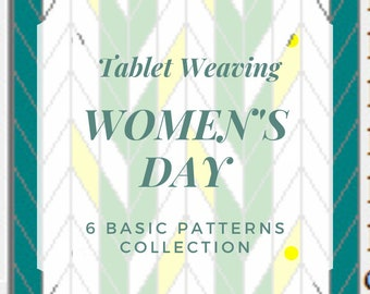Women's Day Tablet weaving patterns, create colorful belts and decorative ribbons, immediate download pdf patterns