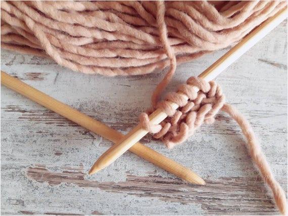 another chance new design pretty cool aiguilles à tricoter en bois taille 10 Kit et grosse boule de pure laine  teints avec des plantes, cadeau de Saint Valentin pour les amoureux du  tricot