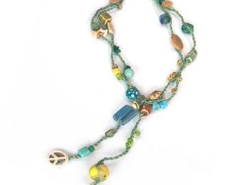 necklace ROPE seafoam