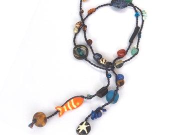 necklace ROPE deep ocean