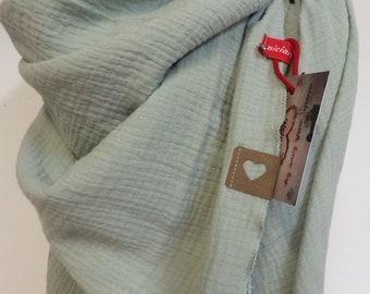 niciart Designer XXL Women's WOMEN's WRAP scarf muslincloth women's scarf triangular scarf SCARF MINT uni muslin 100% cotton