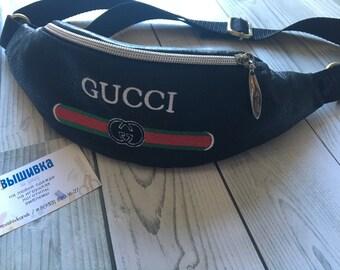 81ca03cd6551d Fanny Pack Logo Bum Bag Hip Bag Belt Bag Party Favors gift for him Gift  belt bag with embroidery Gucci bag