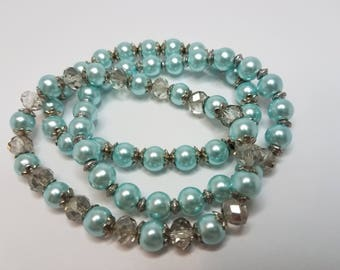 Stretch Bracelets Glass Pearls