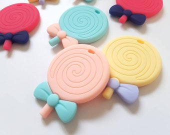 Silicone Lollipop Silicone Lolly Teether Baby Teething BPA Free Jewellery Baby Shower Gift Baby Gift Baby Teether Silicone Lollipop
