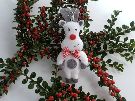 Rudolph Christmas Decorations.Rudolph Christmas Tree Ornaments Xmas Gift Felt Ornaments Fall Decor Felt Roe Decorations Reindeer Ornaments Christmas Decor