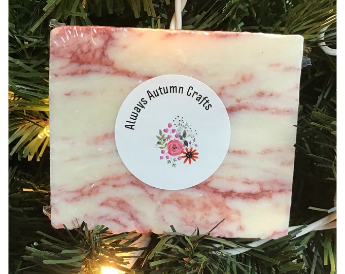 Featured listing image: Candy Cane Bar Soap