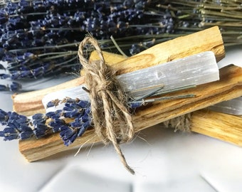 Dried Lavender & Crystal Palo Santo