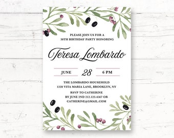 Greek Invitation Etsy