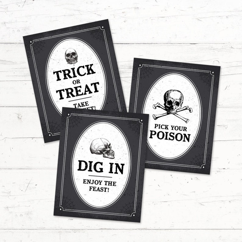 photo about Happy Halloween Signs Printable called Satisfied Halloween, 3 Pack, Printable Signs or symptoms, Trick or Take care of, Get a Cute, Bridal Shower, Youngster Shower, Birthday, Instantaneous Obtain