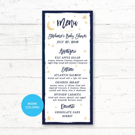 graphic regarding Printable Menus referred to as Twinkle Twinkle Small Star, Printable, Menu Card, Child Shower, Birthday Occasion, Wedding ceremony, Night time Sky, Famous people and Moon, Tailor made Printable Menu