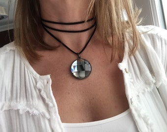 Endless Wrap Necklace - Blue Mirror 548f8aa7c