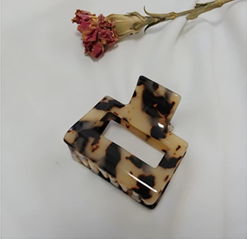 Leopard Hair Pin Daily Square Pin Marble Pin Hair Accessories Celluloid Hair Pin