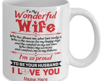 wife gift gift for wife to my wonderful wife wife gift idea wife mug gift for wife birthday husband to wife gift husband to wife