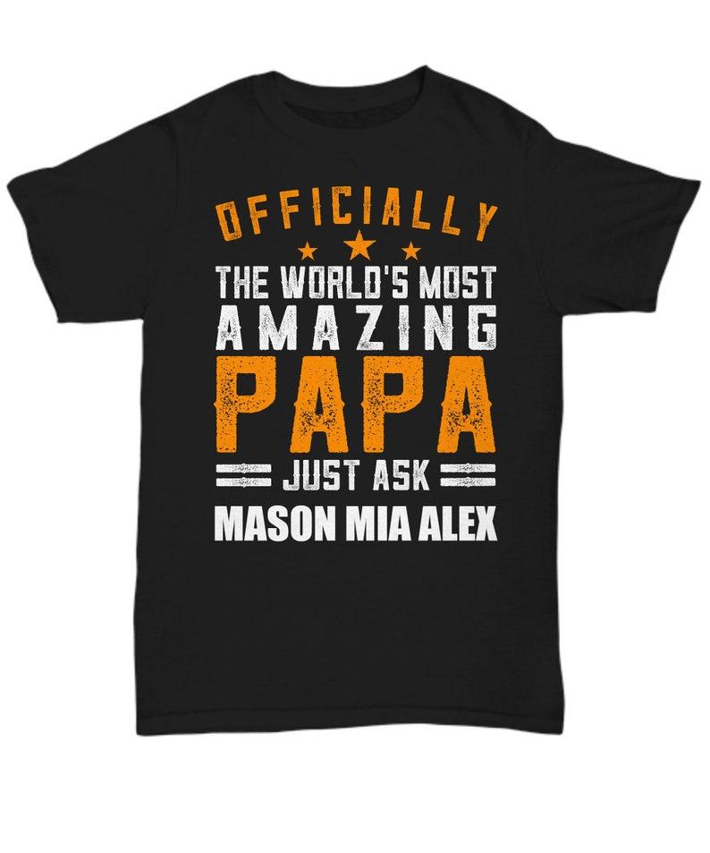 f7a385cfe Papa T Shirts Papa gift Personalized Papa tshirt Papa   Etsy