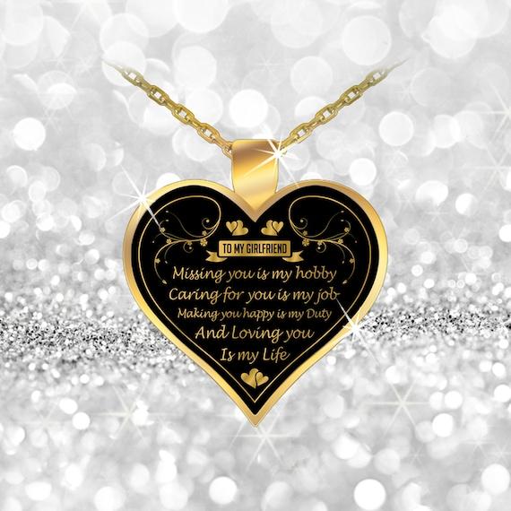 to my beautiful girlfriend necklace