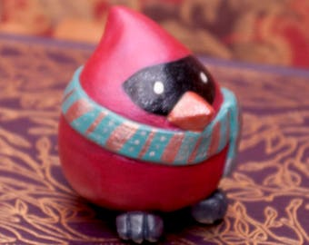 Winter Cardinal Figurine