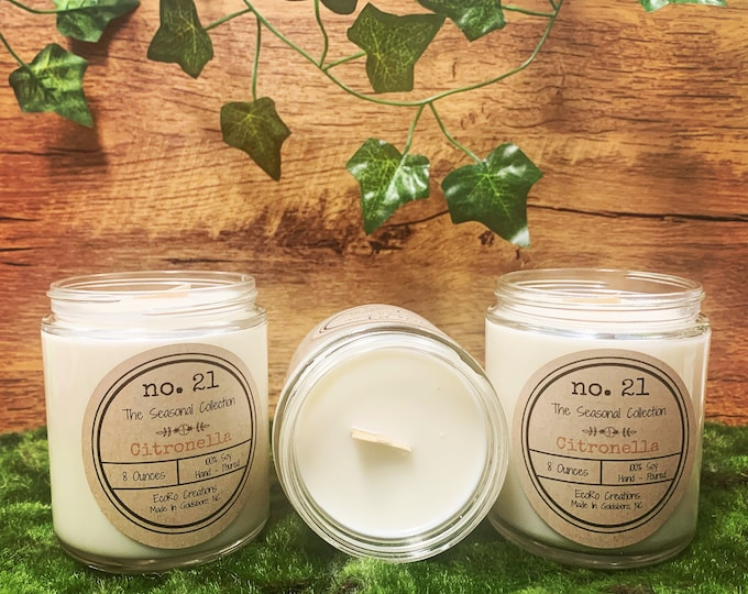 Citronella Soy Candles and Wax Melts
