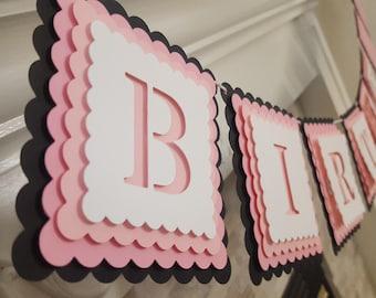 3D Happy Birthday banner