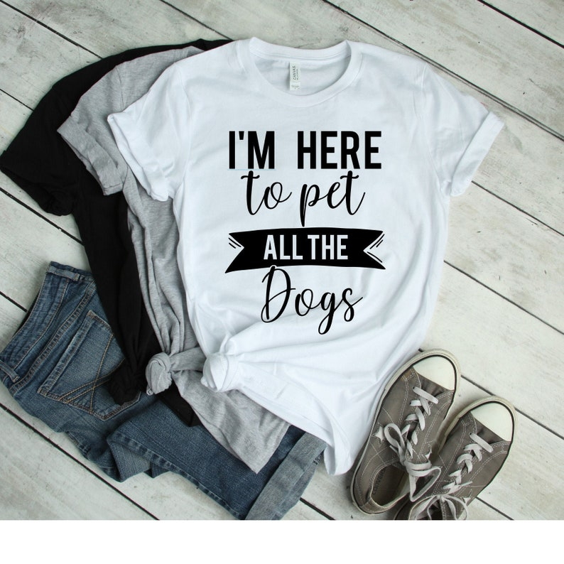 I'm Here to Pet All the Dogs Graphic Tee Women's Tee image 0