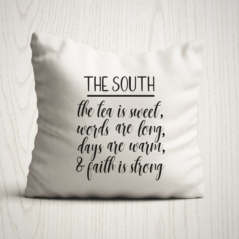 The South Pillow Cover Throw Pillow Rustic Decor image 0